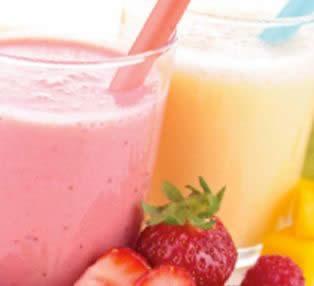 Batido de Yogur, Fresa y Avena