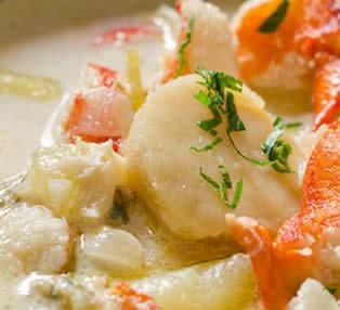 Crema de frutos del mar